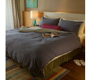 Image of 100% Cotton Blue Colour Duvet Cover (Size 200x200 Cm) and 2 Pillow Case (Size 75x50 Cm)
