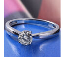 Image of 9K White Gold Diamond (Rnd) Solitaire Ring 0.500 Ct.
