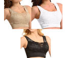 Image of 3 Piece Set - SANKOM SWITZERLAND Patent Classic with Lace Bra  (Size S/M) Including Black, Beige and White