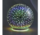 Image of Home Decor - Silver Colour 3D Glass Multicolour LED Lamp (Size 12x12 Cm) - Star (3xAAA Battery not Included)