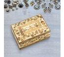 Image of Handmade Bone and Mango Wood Inlay Storage Box (Size 15x10x6 Cm)