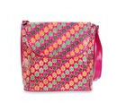 Image of SUKRITI 100% Genuine Leather Floral Pattern Crossbody Bag (Size 28x33x11 Cm) - Fuchsia