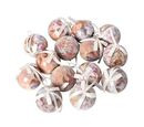 Image of Set of 14 - Christmas Decoration Shatterproof Balls with Ribbons in the Gift Box (Dia 7.5 Cm) - Pink and Multi