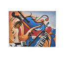 Image of Musical Theme Canvas Handpainting (Size 80x60 Cm)