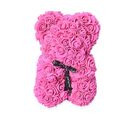 Image of Lovely Rose Foam Flower Bear with Bow Tie - Pink