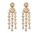 Image of J Francis -  14K Gold Overlay Sterling Silver (Rnd) Earrings Made with SWAROVSKI ZIRCONIA 2.29 Ct.