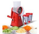 Image of DOD - Vegetable and Fruit Slicer with One Slicing, Shredding and Grating Blade (Size 18x14x28 Cm) - Red