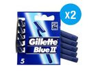 Image of Gilette: Blue II Disposable Razors 5s (Pack of 2)