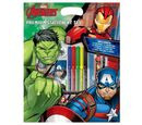 Image of AVENGERS Premium 7 Piece Stationery Set ( Includes Pencil, Felt Tips, Pen, Pad, Sharpener, Eraser and Highlighter)