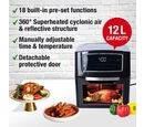 Image of 18 in 1 Multi Functional Digital 12 Litre Air Fryer Oven with Detachable Transparent Door (Size 31x28x35 Cm)