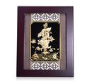 Image of Home Decor - 24K Gold Plated Dragon Wooden Frame (Size 27x34 Cm)