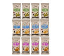 Image of Just Roasted Variety Box 12x50g (4 x Wasabi Peas, 4 x Sweet Chilli Fava Beans, 4 x Sea Salt Fava Beans)