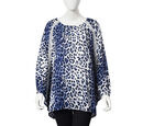 Image of Leopard Pattern One Size Fits All Apparel (Size 67x70 Cm) - Navy and White