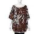 Image of Leopard Pattern Apparel with Lace Collar (One Size Fits All; 77x67 Cm) - Brown and White