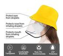 Image of DOD - Bucket Protection Hat with Detachable Safety Protective Face Eye Shield Screen (Perimeter: 57Cm) - Yellow and Black
