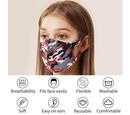 Image of Reusable Washable Face-Mask - Red and Grey