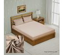 Image of 4 Piece Set - Bamboo 1 Flat Sheet (230x265 Cm), 1 Fitted sheet (140x190+30 Cm), and 2 Pillowcases (50x75 Cm) - Sand Double