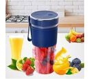 Image of Rechargeable and Portable 350 ml Juicer Blender with Three Blades - Red