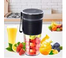 Image of Rechargeable and Portable 350 ml Juicer Blender with Three Blades - Black