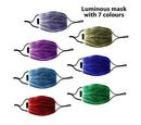 Image of 7 Colour Changing Rechargeable LED Luminous Mask (Size 15x21x3 Cm) - Black