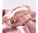 Image of LucyQ - Splash Cuff Bangle (Size 7.5) in Rose Gold Overlay Sterling Silver
