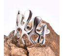 Image of LucyQ - Splash Ring in Rhodium Overlay Sterling Silver