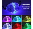 Image of Colour Changing Rechargeable LED Luminous Face Cover (Size 15x21x3 Cm) - Black
