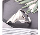 Image of LucyQ Ring in Rhodium Overlay Sterling Silver, SIlver wt. 5.63 Gms