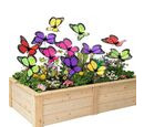 Image of Set of 12 - Decorative Butterfly Stakes (Height 32cm) - Purple, Red and Multi Colour