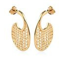 Image of 14K Gold Overlay Sterling Silver Earrings (with Push Back), Silver wt. 6.23 Gms
