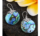 Image of Abalone Shell Hook Earrings in Sterling Silver