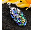 Image of Royal Bali Collection - Abalone Shell Pendant in Sterling Silver