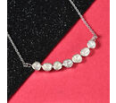 Image of Artisan Crafted Polki Diamond Necklace (Size 20 with Extender) in Platinum Overlay Sterling Silver 1.00 Ct, Silver wt 6.00 Gms