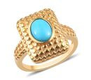 Image of Arizona Sleeping Beauty Turquoise Ring in 14K Gold Overlay Sterling Silver 1.00 Ct.