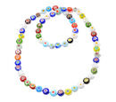 Image of One Time Mega Deal-Multi Colour Murano Style  Glass Necklace (Size 35)
