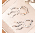 Image of LucyQ - Rhodium Overlay Sterling Silver Earrings (with Clasp)