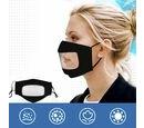 Image of Transparent Face Mask (Size 14x20x29 Cm) - Black