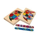 Image of 4 Piece Set - Two Elephant Design Handmade Paper Diary (100 Pages) and Two Beaded Pen - Ivory, Blue and Multi
