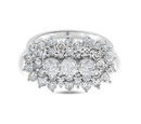 Image of OTO-  9K White Gold Diamond Cluster Ring 2.00 Ct.