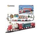 Image of Battery Operated 4 Carriages Santas Express Delivery Train with Sound & Light