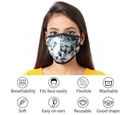 Image of 6 Layer Camouflage Pattern Reusable Face Covering (One Size) - Grey