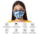 Image of 6 Layer Camouflage Pattern Reusable Face Covering (One Size) - Blue