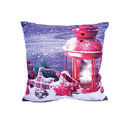 Image of Christmas Seasonal Lantern Design Battery Operated 3 LED Cushion (Size 40x40 Cm) (2xAA Battery not Included)