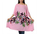 Image of Floral printed Kaftan with Waist Belt (Size S to XXL 91x105cm)  - Lavender