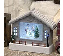 Image of LED TV Water Scene With Santa
