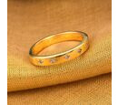 Image of Diamond 14K Gold Overlay Sterling Silver Ring  0.030  Ct.