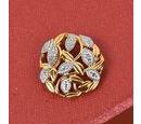 Image of Diamond Leaf Vine Pendant in 14K Gold Overlay Sterling Silver