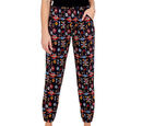 Image of NOVA of London - Aztec Print Soft Touch Joggers in Black (Size S, 8-12)