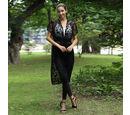 Image of JOVIE Lace Kaftan with Tassel (Size:78x115cm)- Black