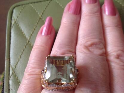 User supplied image of GP Multi Gem Stone 14K Gold Overlay Sterling Silver Ring  13.500  Ct.